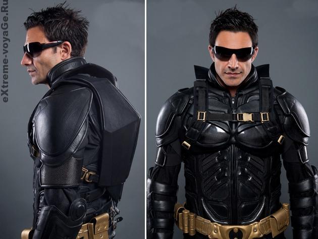 Кожаный рюкзак для байкеров Dark Knight в стиле Batman