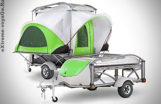 Легковой прицеп - дача с палаткой Sylvansport Go Camper