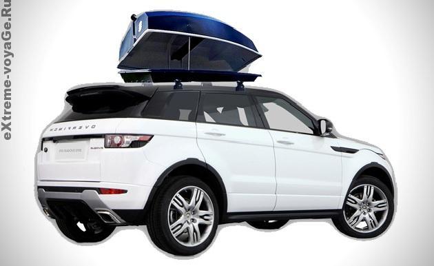 Автомобильный аэродинамический багажник – лодка Boatpack