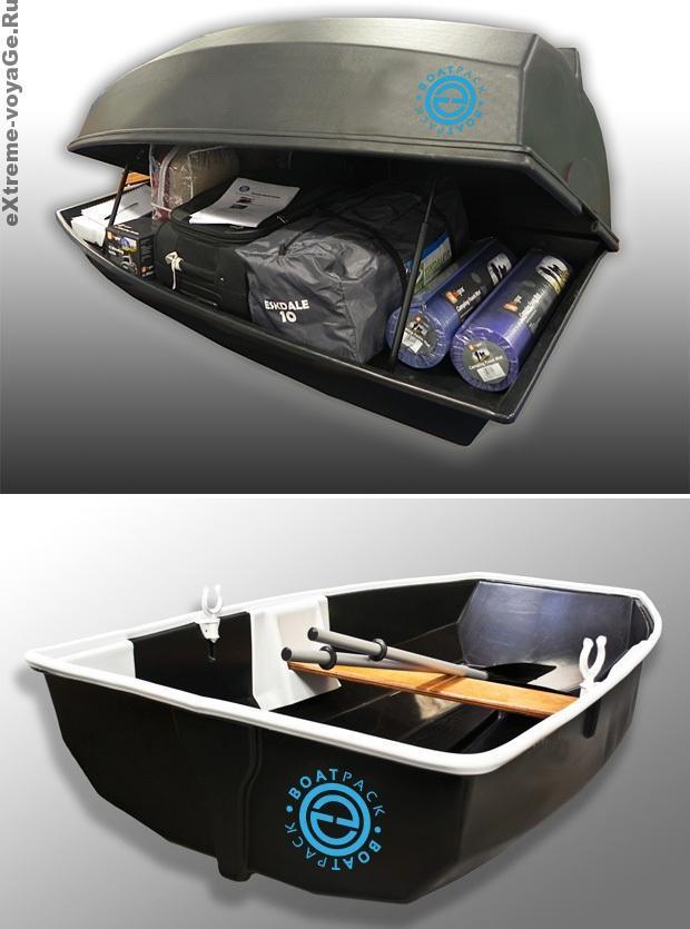 Лодка и аэродинамический багажник Boatpack