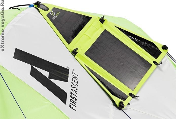 Гибкие солнечные панели на палатке First Ascent Katabatic