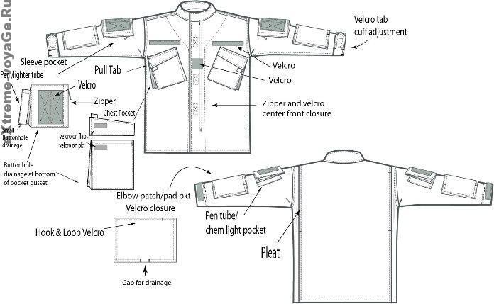 Верхняя часть костюма Pathfinder BDU