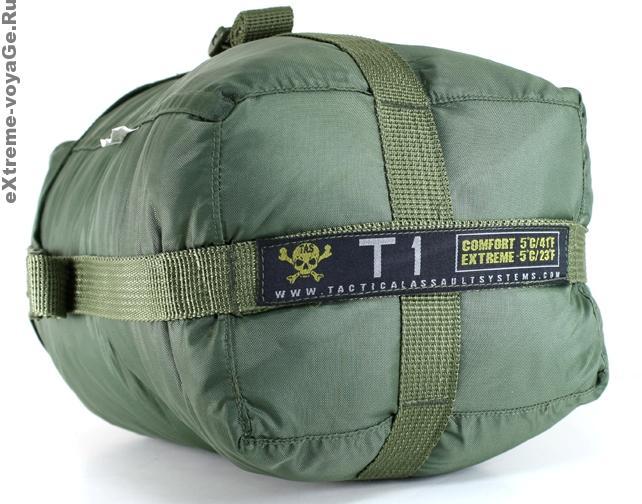 Тактический армейский туристический спальный мешок T-1