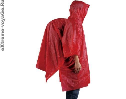 Накидка – пончо Rain Poncho защитит туриста и его рюкзак от дождя