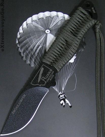 Нож выживания парашютиста-спасателя с паракордом SmokeJumper