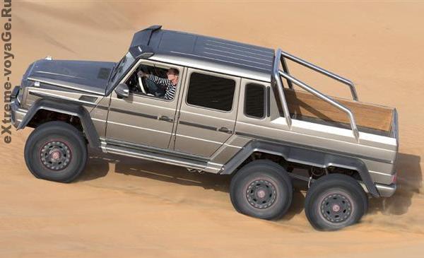 Mercedes-Benz G 63 AMG преодолевает песчаник