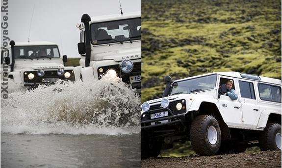 Land Rover Defenders на экстремальном маршруте