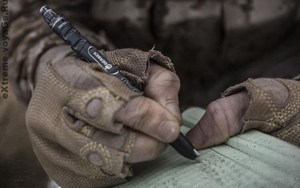 Тактическая ручка в полевых условиях