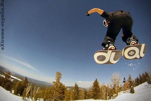 Двойной сноуборд для экстремалов