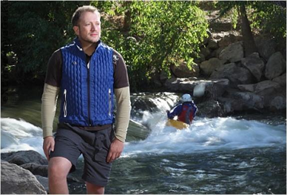 Легкий термо-защитный надувной жилет с аргоном Kinetic Vest