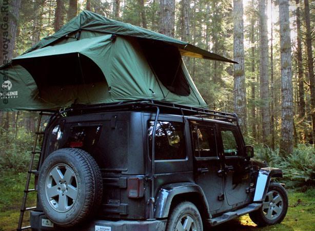 Палатка на крышу автомобиля Treeline Green