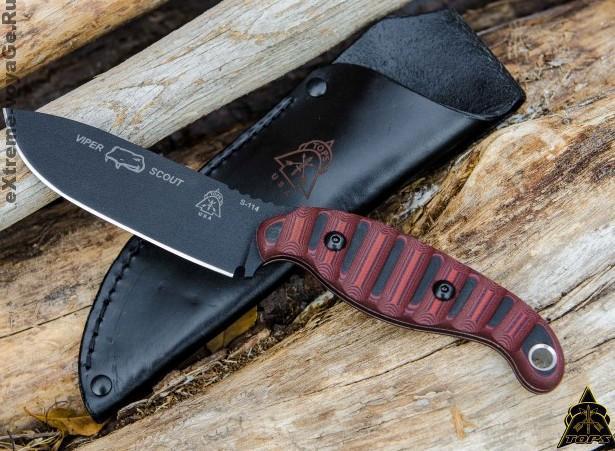 Туристический нож выживания в дикой природе Viper Scout Red