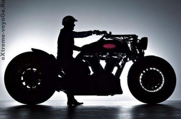 Самый большой и мощный мотоцикл в мире Gunbus 410