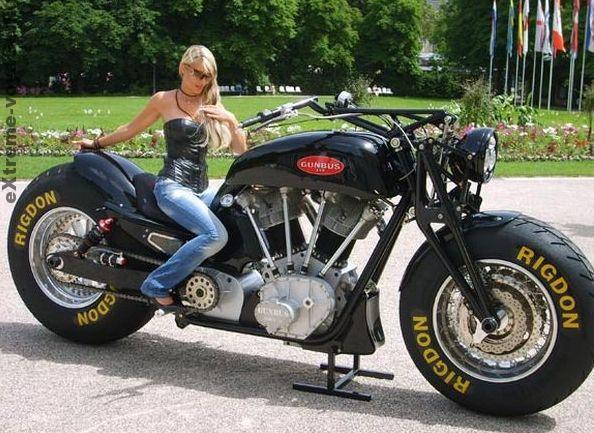 Мотоцикл - монстр Gunbus 410