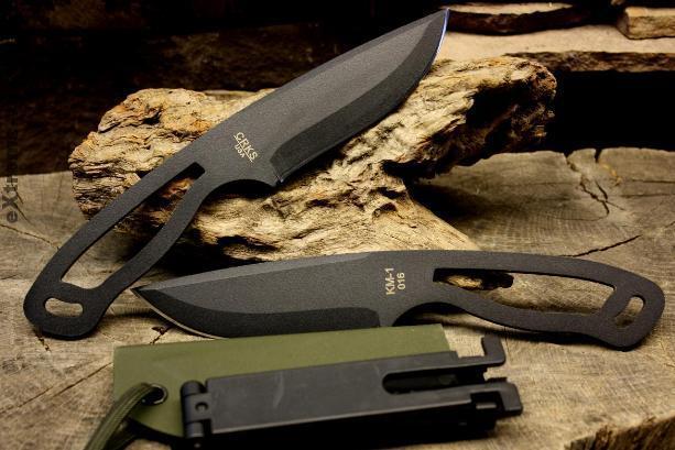 Легкий нашейный нож CRKS Kangaroo Mouse KM1 Molle