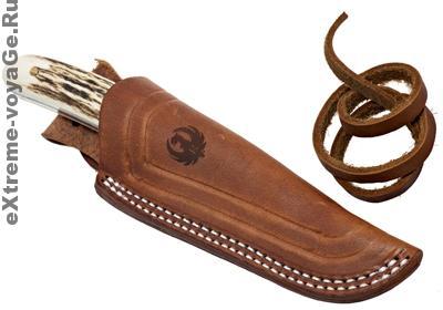 Нож для выживания Backwoods Pro в ножнах с кожаным шнурком