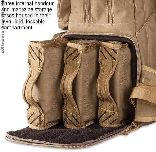 NRA Pistol Backpack: отделения для пистолетов