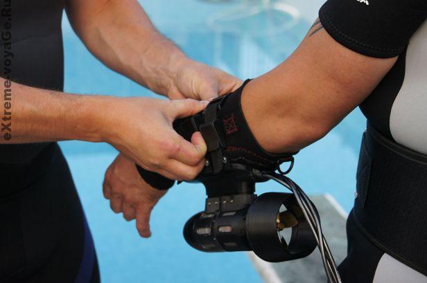 Реальный буксировщик для дайвинга Underwater Jet Pack