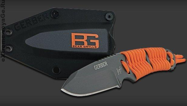 9.Нож выживания с фиксированным лезвием и ручкой, обмотанной паракордом Bear Grylls Paracord Fixed Blade.