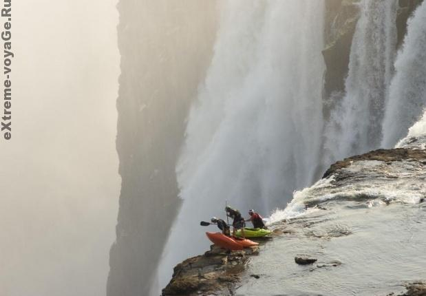 Африка, водопад Виктория, экстрим-каякинг
