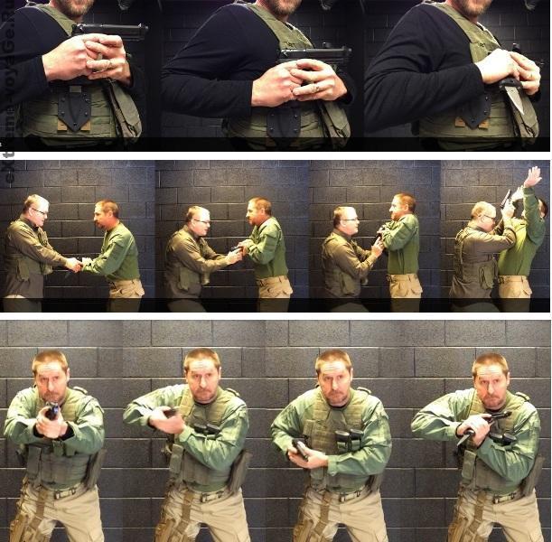 Применение пистолета со штык-ножом в рукопашной схватке
