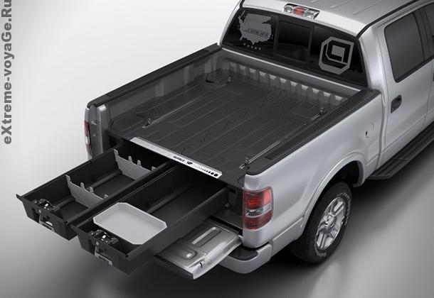 Защитный кунг-багажник для пикапа Decked Truck System