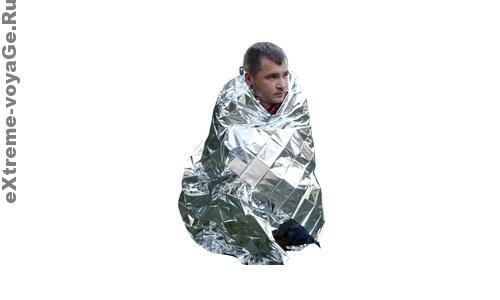 Сигнальное термо мини-одеяло выживания Survival Blanket