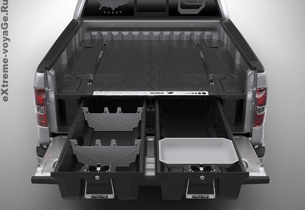 Выдвижные ящики в багажнике для пикапа  Decked Truck System