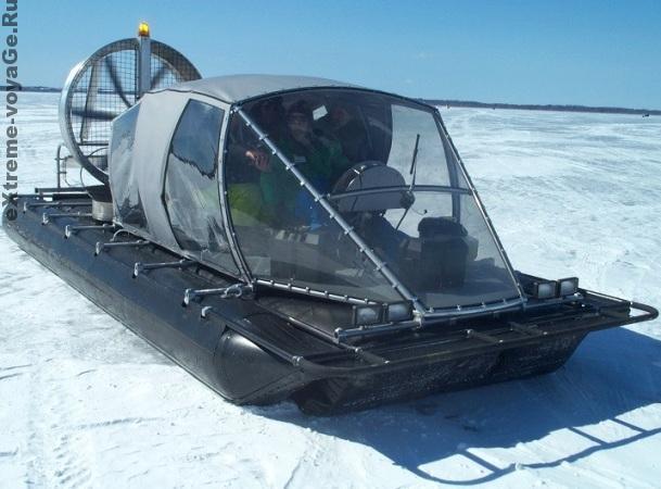 Тримаран ATASD на снегу