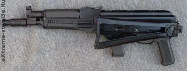 Самозарядный карабин Вепрь МА-9 со сложенным прикладом