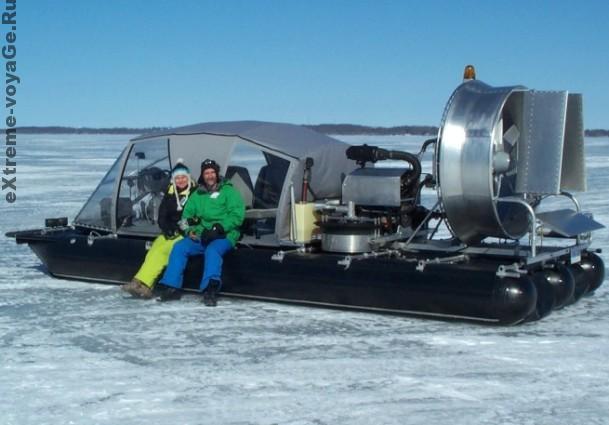 Разработчики тримарана на воздушной подушке  ATASD