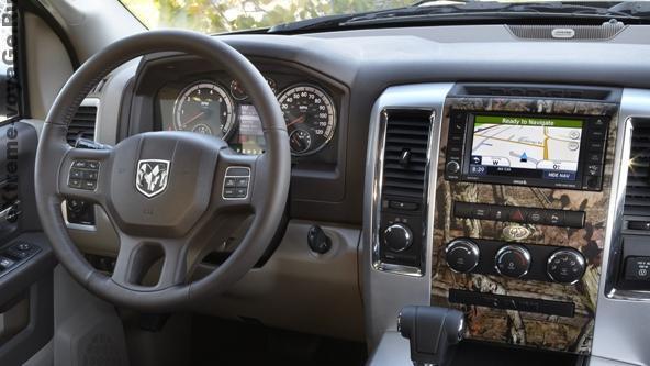 Водительское место в Dodge RAM 1500 образца 2014 года
