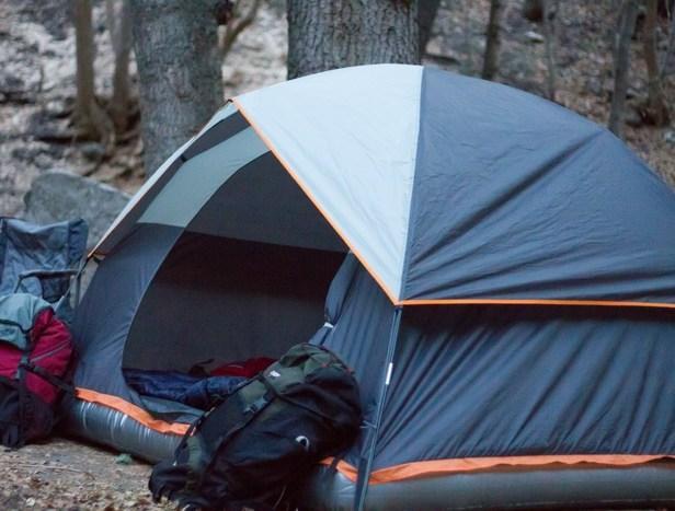Походная палатка со встроенным надувным матрасом Aesent