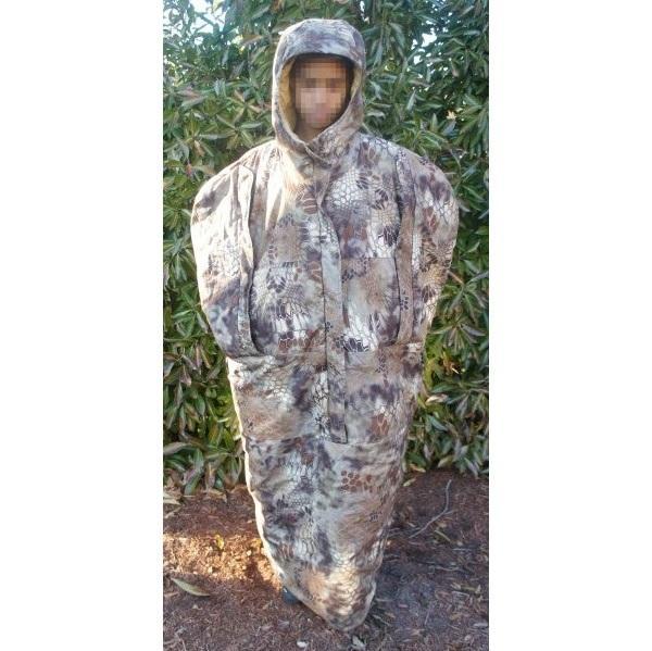 Охотничья одежда: бесшумный тепловой тактический плащ SJK