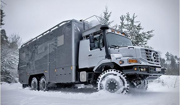 Экспедиционный внедорожник - автодом  Mercedes Benz Zetros 6х6