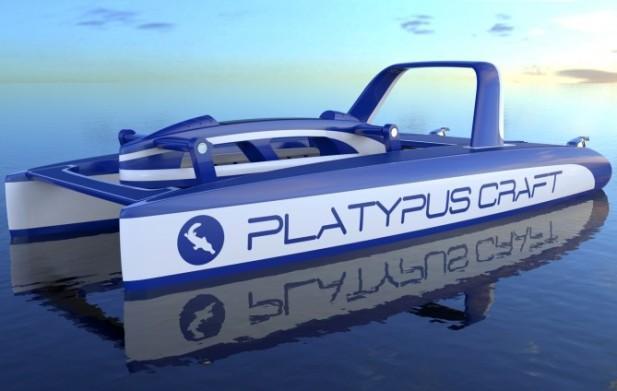Platypus Craft с кабиной в надводном положении