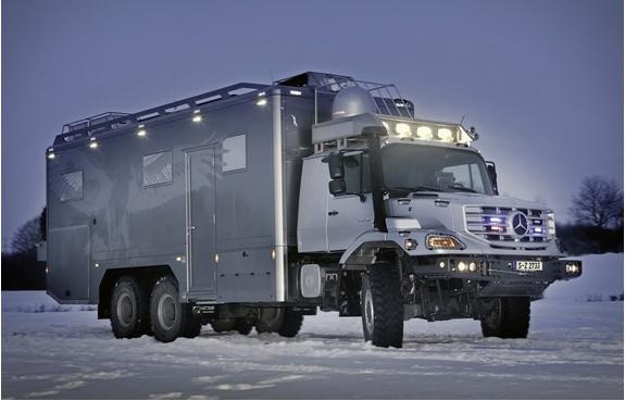 Экспедиционный вездеход - автодом на колесах  Mercedes Benz Zetros 6х6
