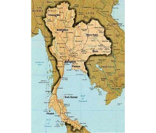 Королевство Таиланд в Юго-Восточной Азии