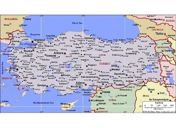 Турция на мировой карте