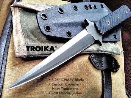 Боевой десантный нож - стилет Troika