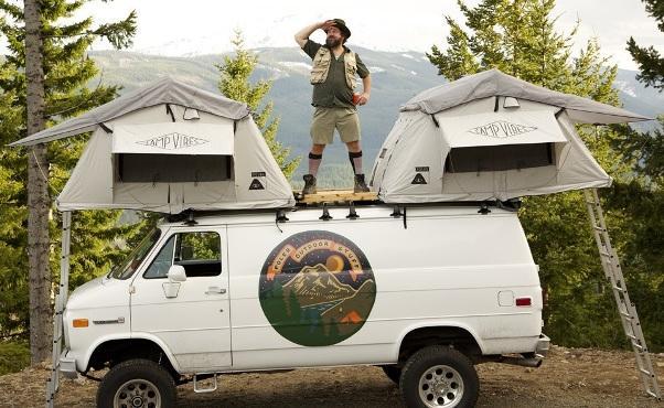 2 палатки Le Tente на крыше одного авто