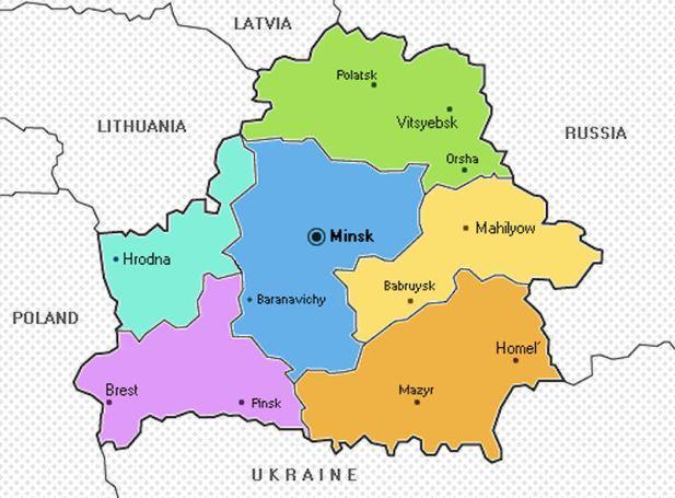 Республика Беларусь на карте мира