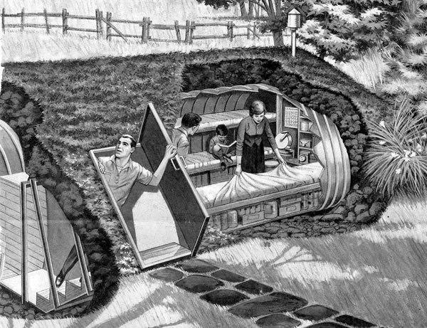 Вариант устройства бункера на даче