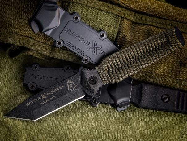 Tops Knives WolfHawk Tanto Point Paracord Handle