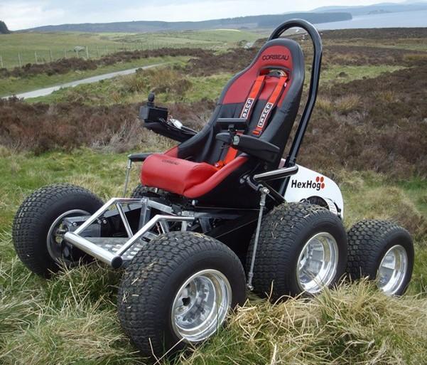 Внешний вид экстремального вездехода для инвалидов HexHog ATV