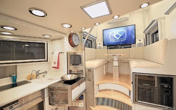Спальня в автодоме KiraVan
