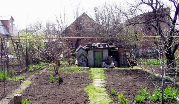 Один из вариантов обустройства входа в бункер на даче: вход из погреба