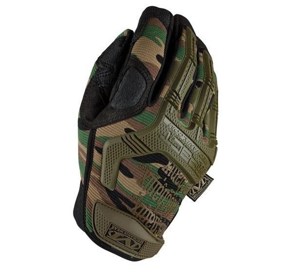 Камуфляжные стрелковые перчатки Mechanix M-Pact Woodland Camo