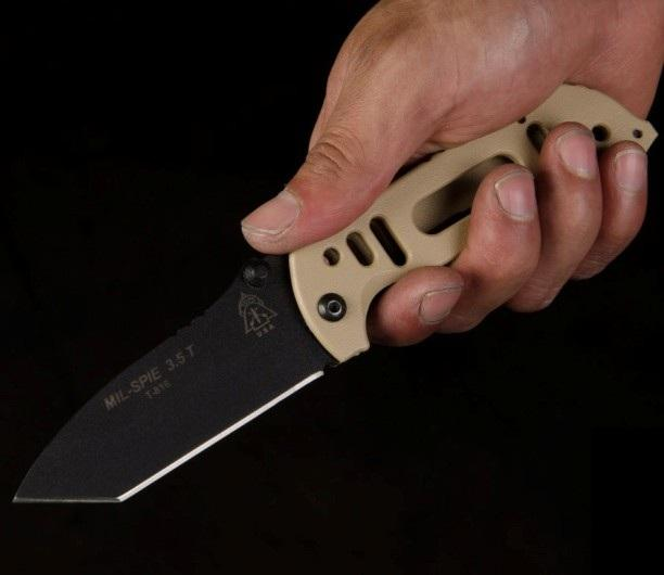 Складной нож спецназа с клипсой Mil SPIE 3.5 Tanto Point