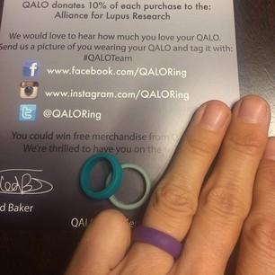 QALO Ring на руке
